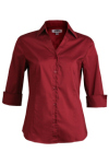 Edwards 5045 Edwards Ladies' Tailored V-Neck Stretch Blouse-3/4 Sleeve
