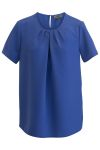 Edwards 5222 Edwards Ladies Jewel Neck Short Sleeve Blouse