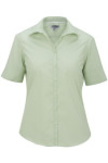Edwards 5245 Women's Open Neck Poplin Short Sleeve Blouse