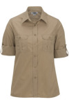 Edwards 5288 Edwards Ladies' Poplin Roll Up Sleeve Shirt