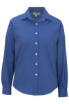 Edwards 5975 Edwards Ladies' Pinpoint Oxford Shirt - Long Sleeve