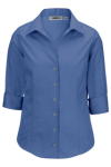 Edwards 5976 Edwards Ladies' Oxford Wrinkle-Free Dress Blouse - 3/4 Sleeve