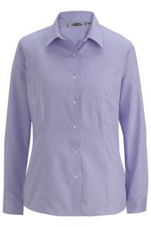 Edwards 5978 Edwards Ladies' Oxford Wrinkle-Free Long Sleeve Blouse