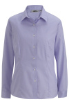 Edwards 5978 Edwards Ladies' Oxford Non-Iron Long Sleeve Blouse