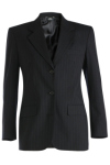 Edwards 6660 Edwards Ladies' Pinstripe Wool Blend Suit Coat