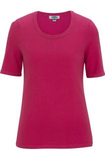 Edwards 7055 Edwards Ladies' Short Sleeve Scoop Neck Sweater