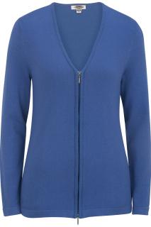 Edwards 7062 Edwards Ladies' Full Zip V-Neck Cardigan Sweater