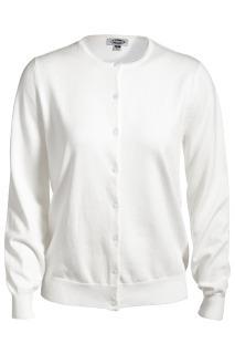 Edwards 7111 Edwards Ladies' Jewel Neck Cotton Cardigan Sweater