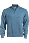 Edwards 712 Edwards Quarter Zip Cotton Blend Sweater