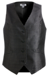 Edwards 7396 Edwards Ladies' Grid Brocade Vest