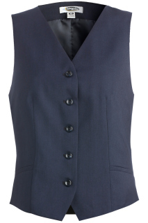 Edwards 7526 Edwards Ladies' Synergy Washable High-Button Vest