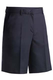 Edwards 8422 Edwards Ladies' Microfiber Flat Front Short