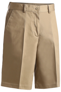 Edwards 8459 Edwards Ladies' Blended Flat Front Chino Short