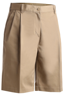 Edwards 8467 Edwards Ladies' Utility Pleated Front Chino Short