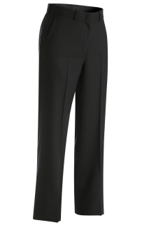 Edwards 8569 Edwards Ladies' Pinstripe Flat Front Pant