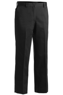 Edwards 8579 Edwards Ladies' Blended Chino Flat Front Pant