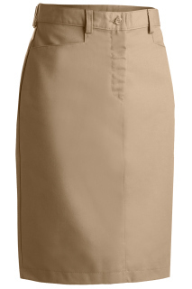 Edwards 9711 Edwards Ladies' Blended Chino Skirt-Medium Length