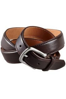 Edwards BP01 Edwards Leather Dress Belt With Nickle Brushed Buckle