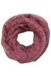 Edwards S005 Edwards Tone-On-Tone Circles Infinity Scarf - Women's
