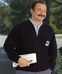 TALL Bulky Knit Zipper Front Letter Carrier -  Regular