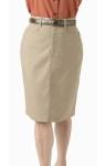 Women's Medium Length Chino Skirt