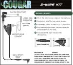 Ear Phone Connection Cougar Cougar 2-Wire Professional Kit