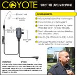 Ear Phone Connection Coyote Coyote Short Tube Lapel Microphone
