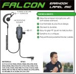 Ear Phone Connection Falcon Falcon Earhook Lapel Microphone