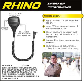 Ear Phone Connection Rhino Rhino Speaker Microphone