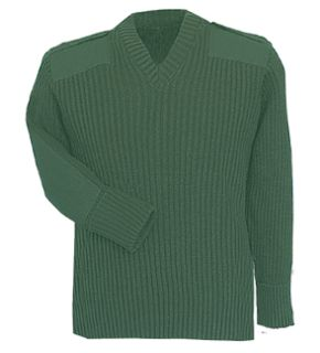 Fechheimer 00705 Green Command Sweater 70Poly/30Wool