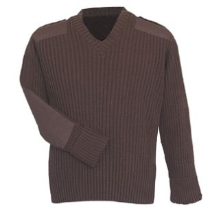 Fechheimer 00709 Brown COM.Sweater 70Poly/30Wool