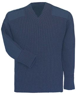 Fechheimer 00710 Navy Sweater W/Wind-Stop 70Poly/30Wool