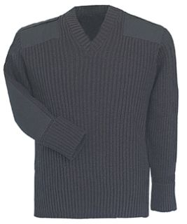 Fechheimer 00711 Black Sweater W/Wind-Stop 70Poly/30Wool