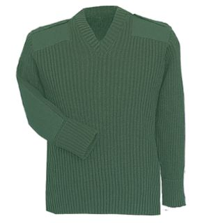 Fechheimer 00715 Green Sweater W/Wind-Stop 70Poly/30Wool