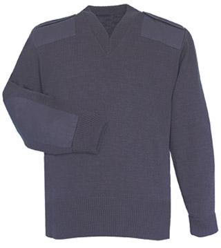 Fechheimer 00720 Navy Jersey Knit Zip Sweater 70Poly/30Wool