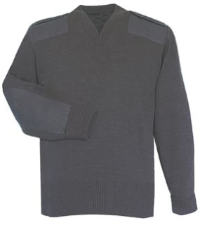 Fechheimer 00721 Black Jersey Knit.Sweater 70POLY/30Wool