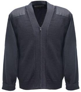 Fechheimer 00770 Navy Jersey Knit Zip Sweater 70Poly/30Wool