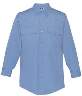 Fechheimer 139R5425 Ladies Long Sleeve Police Shirt Medium Blue