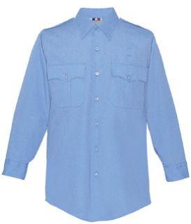 Fechheimer 15W5425 Mens Long Sleeve Police Shirt Marine Blue