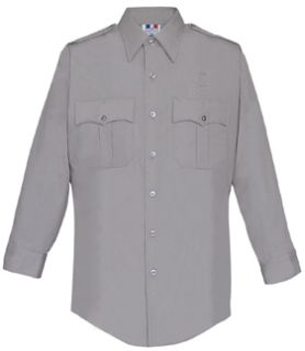 Fechheimer 15W5441 Long Sleeve Silver Grey Mens Shirt