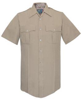Fechheimer 176R7804 Ladies Short Sleeve Police Shirt Silvertan 100% Po