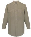 Men's Silver Tan Long Sleeve 65/35 Poly/Rayon Deluxe Tropical Shirt