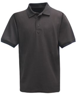 Fechheimer 3000BK Short Sleeve P3 Cotton Polo Pique Black Shirt