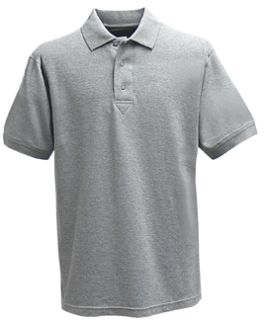 Fechheimer 3000HGY Short Sleeve P3 Cotton Polo Pique Heather Grey