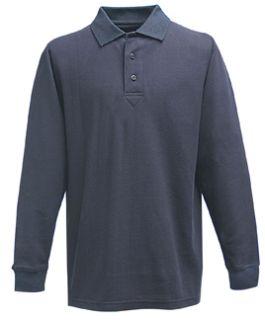 Fechheimer 3020NV Long Sleeve P3 Cotton Polo Pique Navy