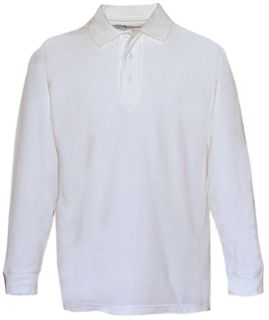 Fechheimer 3020WH Long Sleeve P3 Cotton Polo Pique White