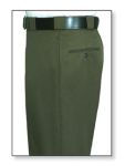 Men's Forest Green T-3 Trouser, 55/45 Polyester/Wool, Elastique Weave