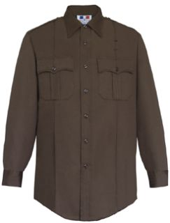 Fechheimer 35R5894 Mens Long Sleeve Shirt Brown 65%P/35%Cotton