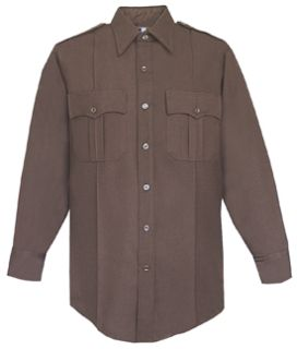 Fechheimer 45W6694 Dark Brown Long Sleeve Shirt