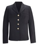 Fechheimer 4800SDC Ladies Usn Service Dress Blue Coat 55%Po